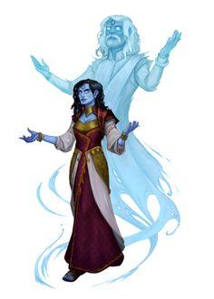 Female Samsaran Spiritualist Seeker of Enlightenment - Pathfinder PFRPG DND D&D 3.5 5th ed d20 fantasy