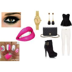 """Pink Lips Gold Lex"" by colorfulnay on Polyvore"