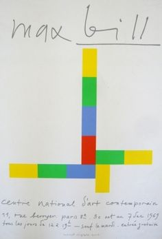 Max Bill poster, 1969