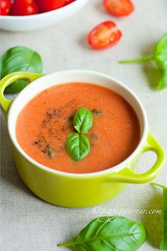 Tomato and Basil Soup.