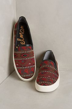 Anthropologie SAM EDELMAN BECKER RED SNEAKERS #anthrofave