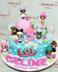 LoL...LoL...LoL... #customcake #birthdaycake #kueulangtahun #kuesurabaya #fondantcake #spikoe #toysfigurine #lolcake #lol#lolsurprise #arwenscakery #surabaya Funny Birthday Cakes, Homemade Birthday Cakes, Birthday Cake Girls, 7th Birthday, Pretty Cakes, Cute Cakes, Fondant Cakes, Cupcake Cakes, Surprise Cake