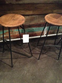 Wood and metal bar stools at Four Hands. A treat of a seat. Available through Lily + Luxe Metal Stool, Metal Bar Stools, Barrel Bar, High Point Market, Wood And Metal, Studios, Lily, Hands, Future