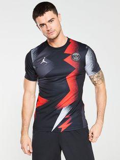 Nike PSG 19/20 Pre Match Tee - Black/Pink | littlewoodsireland.ie Nike Gloves, Jordan Logo, Polo T Shirts, Basic Style, Tie Knots, Psg, Sock Shoes, Size Model, Black Nikes