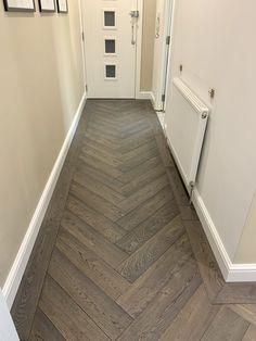 Wooden Floor Tiles, Wood Look Tile Floor, Dark Wooden Floor, Herringbone Tile Floors, Wood Floor Design, Wood Tile Floors, Wooden Flooring, Entryway Flooring, Laminate Flooring In Kitchen