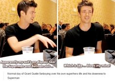 The Flash cast - Grant Gustin - comic con 2015