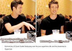 The Flash cast - Grant Gustin - comic con 2015