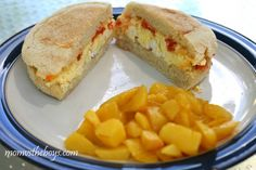 Breakfast sandwiches made on the BBQ, perfect for CAMPING!