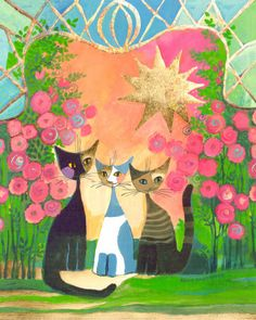 The Garden of Cats by Rosina Wachtmeister