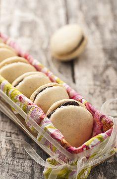 Vanilla Macarons with Dark Chocolate Filling