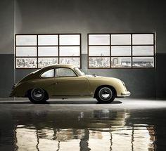 Yellow Porsche 356