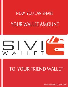 Share money services has been launched . You can share Money in your friend wallet anytime. www.siviwallet.com #SIVI_WALLET #SHARE_WALLET_AMOUNT
