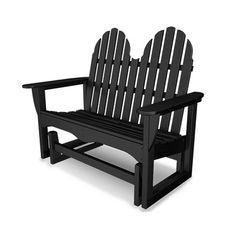 POLYWOOD® Adirondack Plastic Garden Bench & Reviews | Wayfair