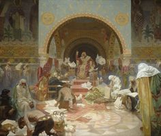 The Slav Epic #4:  Tsar Simeon I of Bulgaria by Alphonse Mucha