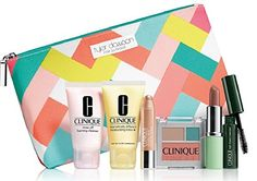 NEW Clinique Skin Care Makeup 7 Pc Gift Set Travel Size Nudes Spring 2015 Tyler Dawson Makeup Bag -- Check out the image by visiting the link.