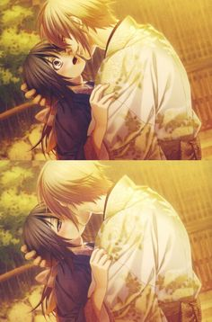 Chizuru & Chikage Kazama. -- Anime, Hakuouki, characters, official art, otome game, cute romantic relationship, couple