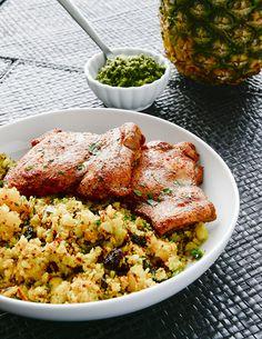 Tandoori Chicken w/ Curry Pineapple Rice via @meljoulwan