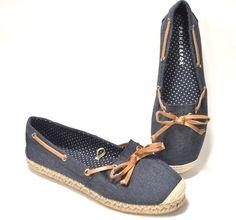 1f459c65931 Aeropostale Prince   Fox Espadrille Flats womens 8 Boating Shoes Slip Ons  Blue  Aeropostale