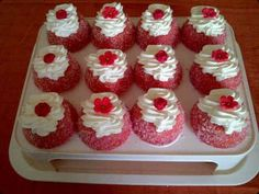 Red Cake ( Snowballs) recipe by Mrs Admin (mashuda) posted on 21 Jan 2017 . Recipe has a rating of by 16 members and the recipe belongs in the Cakes recipes category Baking Recipes, Cookie Recipes, Dessert Recipes, Baking Tips, Baking Ideas, Halal Recipes, Sweet Recipes, Snowballs Recipe, Red Cake