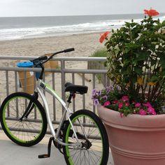 A morning well spent biking on the boards in Ocean City NJ