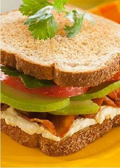 BLT? Try BAT! This sandwich is so good and cuts right to the chase with three simple ingredients that will knock your usual lunch sandwich out of the ballpark! #fanwich