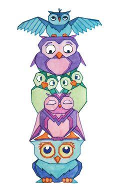 Owl_Totem_Pole.jpg (996×1600)