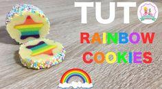 ♡• RECETTE BISCUITS ARC EN CIEL - HOW TO MAKE RAINBOW COOKIES RECIPE •♡