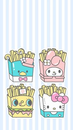 cute wallpapers for mobile with Sanrio characters, Hello Kitty, My Melody, and Gudetama among others! My Melody Wallpaper, Sanrio Wallpaper, Pink Wallpaper Iphone, Hello Kitty Wallpaper, Kawaii Wallpaper, Cartoon Wallpaper, Iphone Wallpapers, Sanrio Hello Kitty, Hello Kitty Fotos