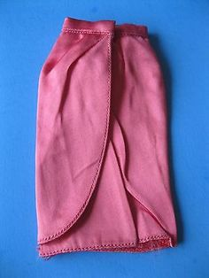 Vintage Barbie Doll ROSE PINK PAK SATIN WRAP SKIRT Tagged Mattel  60s Clothes
