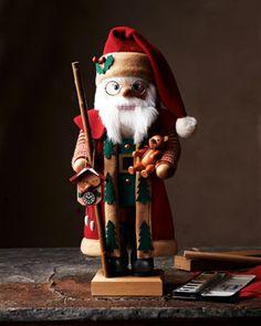 Nutcracker Santa in Bordeaux by ULBRICHT at Horchow.