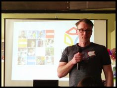 Steven Csorba presenting iHuman's new Trust Compass and the ALL IN! Edmonton campaign