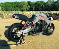 Reposted from - I've had a long standing obsession with the original Suzuki Katana since I saw the prototype poster… Suzuki Bikes, Suzuki Motorcycle, Motorcycle Paint, Concept Motorcycles, Custom Motorcycles, Custom Sport Bikes, Stunt Bike, Retro Bike, Drag Bike