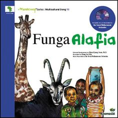 * Funga Alafia Music Map Series: Multicultural Song 10 Published by Koomzaal Traditional Words and Tune (Great list of resources. Abiyoyo, another book on the page is a favourite to act out and sing) Music Education Games, Music Activities, Teaching Music, Music For Kids, Kids Songs, Hyun Kyung, Montessori, African American History Month, Elementary Music Lessons