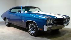 Top American Muscle Cars List | Blue 1970 Chevy Chevelle SS Pictures
