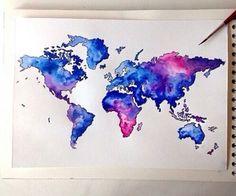 Bedroom decor michael tompsett world map paint splashes canvas art gumiabroncs Choice Image