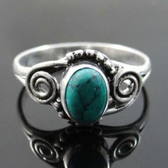This is beautiful Silver Plating done on Solid Copper metal stone size ring. It is high quality fashion ring.this is img Size 8 Fashion, Fashion Rings, Fashion Jewelry, Copper Metal, Turquoise Stone, Stone Rings, Indian Fashion, 925 Silver, Jewelry Gifts