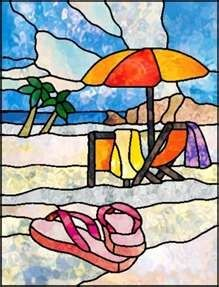 Stained glass beach chair