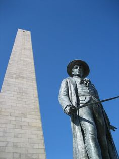 Bunker Hill. Yeah, that's a window at the top. I climbed the stone staircases and looked out it. Ah-mazing.