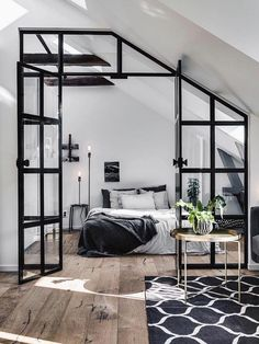 The Best Scandinavian Bedroom Interior Design Ideas 08 Scandinavian Bedroom, Scandinavian Interior Design, Home Interior Design, Scandinavian Style, Interior Ideas, Scandinavian Apartment, Scandinavian Furniture, Design Interiors, Scandinavian Christmas