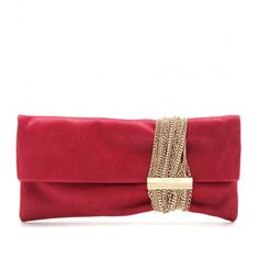Jimmy Choo Chandra Suede Clutch (17.272.695 VND) ❤ liked on Polyvore  featuring 0c7c62f3ad364