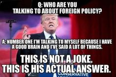 Dimwitted Donnie - scarey to think people voted for this ignorant clown