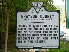 elk creek grayson virginia history   Grayson County Z-88   Marker History