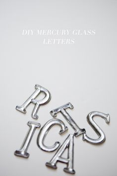 DIY Mercury Glass Letter Ornaments // http://ruffledblog.com/diy-mercury-glass-letter-ornaments/