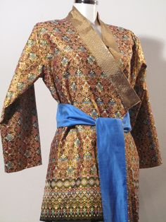 Yukata - Tageskimono - Gold Flower pattern