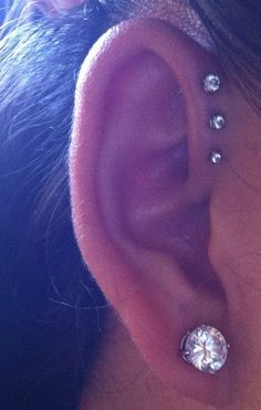 ear piercing | Tumblr I want this, think it would really hurt.