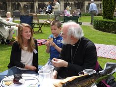Archbishop of canterbury comes for a picnic at Gloucester Catherdral