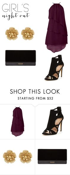 """""""Girls night out"""" by alexis-chandler04 ❤ liked on Polyvore featuring Miriam Haskell, Balmain and girlsnightout"""