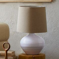 West Elm Channel Ceramic Table Lamp,...   $105.99