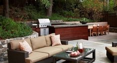 Creating the Ideal Outdoor Summer Kitchen this Fall modern outdoor bbq designs Simple Outdoor Kitchen, Outdoor Kitchen Design, Outdoor Kitchens, Outdoor Spaces, Outdoor Living, Outdoor Decor, Outdoor Lounge, Outdoor Grill, Outdoor Photos