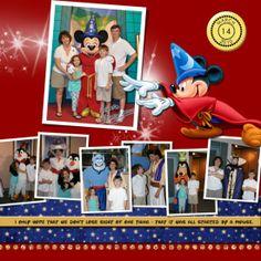 Disney' Scrapbooking Layouts | disney #scrapbook #layout